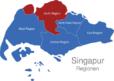 Map Singapur Regionen North_Region