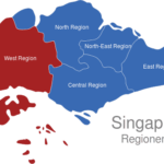 Map Singapur Regionen West_Region