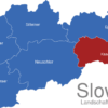 Map Slowakei Landschaftsverband Kaschauer