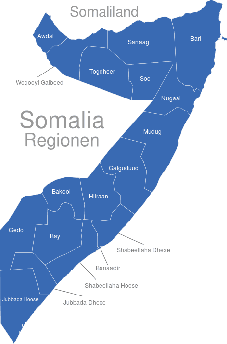 Somalia Regionen
