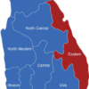 Map Sri Lanka Provinzen Eastern