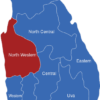 Map Sri Lanka Provinzen North_Western