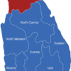 Map Sri Lanka Provinzen Northern