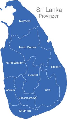 Sri Lanka Provinzen