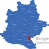 Map Stuttgart Bezirke Birkach