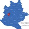 Map Stuttgart Bezirke Botnang