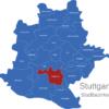 Map Stuttgart Bezirke Degerloch
