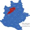 Map Stuttgart Bezirke Feuerbach