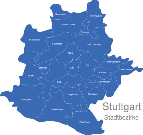 Stuttgart Bezirke