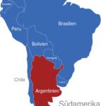 Map Südamerika Länder Argentinien