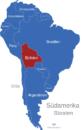 Map Südamerika Länder Bolivien