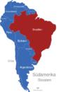 Map Südamerika Länder Brasilien