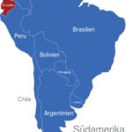 Map Südamerika Länder Ecuador