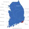 Map Südkorea Provinzen Busan