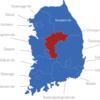 Map Südkorea Provinzen Chungcheongbuk-do