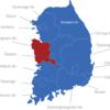 Map Südkorea Provinzen Chungcheongnam-do