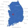 Map Südkorea Provinzen Daejon