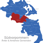 Map Südvorpommern Anklam-Land