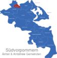Map Südvorpommern Greifswald