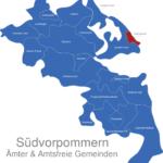 Map Südvorpommern Heringsdorf