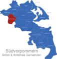Map Südvorpommern Jarmen-Tutow