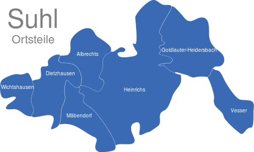 Suhl Ortsteile