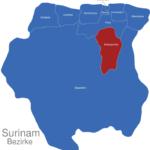 Map Surinam Bezirke Brokopondo