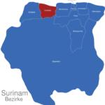 Map Surinam Bezirke Coronie