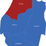 Map Swaziland Distrikte Hhohho