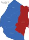 Map Swaziland Distrikte Lubombo