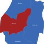 Map Swaziland Distrikte Manzini