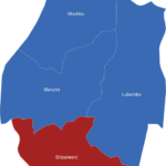 Map Swaziland Distrikte Shiselweni