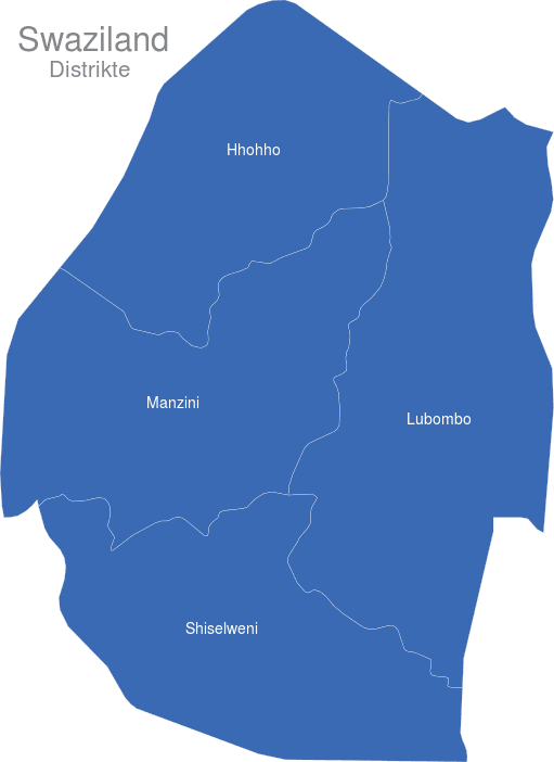 Swaziland Distrikte