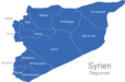 Map Syrien Regionen Damascus
