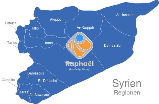 Syrien Karte 2016.Syrien Regionen