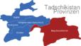 Map Tadschikistan Provinzen Berg-Badachschan