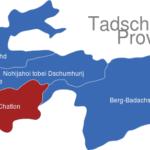 Map Tadschikistan Provinzen Chatlon