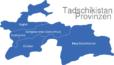 Map Tadschikistan Provinzen Duschanbe