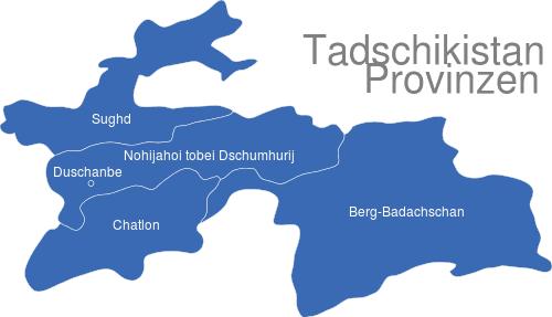Tadschikistan Provinzen