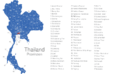 Map Thailand Provinzen Bangkok
