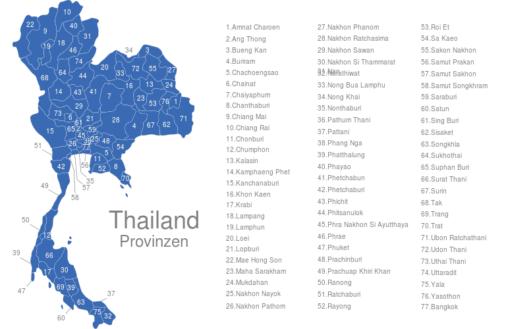 Thailand Provinzen