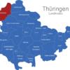 Map Thüringen Landkreise Eichsfeld