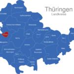 Map Thüringen Landkreise Eisenach