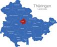 Map Thüringen Landkreise Erfurt