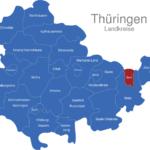 Map Thüringen Landkreise Gera