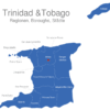 Map Trinidad Tobago Regionen Arima