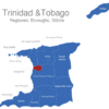 Map Trinidad Tobago Regionen Chaguanas