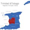 Map Trinidad Tobago Regionen Couva-Tabaquite-Talparo