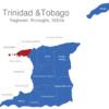 Map Trinidad Tobago Regionen Diego_Martin