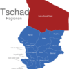 Map Tschad Regionen Borkou-Ennedi-Tibesti